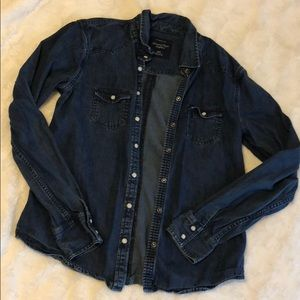 AE blue jean button up